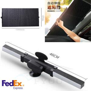 Double-Deck 46*130cm Car Retractable Foldable Rear Window Sun Shade Block Visor