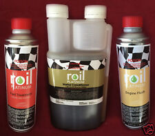 ROIL PLATINUM KIT 500ml PETROL Treatment 1L Metal Conditioner 300ml Engine Flush