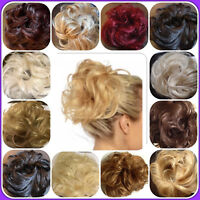 Messy Hair Scrunchie Easy Bun Wavy Curly Extension Piece Womens Girls