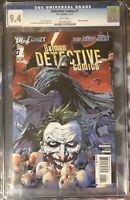 Batman Detective Comics #1 (New 52)  CGC 9.4  White Pages | DC | Joker Cover