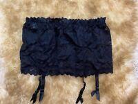 Alan socks lace black GARTER  Waist belt size S/M