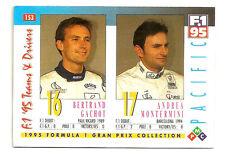 Pacific F1 Team Drivers   Bertrand Gachot   A.Montermini   Formula 1 Racing Card