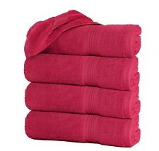 """Pack of 4 Large Bath Towels 100% Cotton 27""""x55"""" Highly Absorbent Soft Multicolor"""