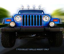 Fits 1997-2006 Jeep Wrangler Black Billet Grille Main Upper Grill Insert Fedar