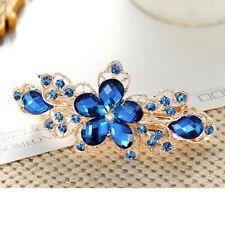 Women Girl Crystal Flower Hair Accessories Fashion Barrette Clip Hairclip US