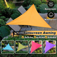 3/4/6m Triangular Waterproof Sun Shade Sail Garden Patio Awning Canopy UV