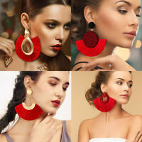 Large Bohemian Tassel Earrings Women Handmade Fringe Earrings Statement Jewelry