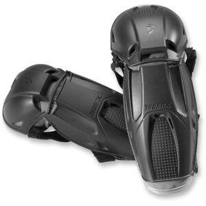 New Black Thor CE Adult Mens MX BMX ATV Quadrant Elbow Guards Protectors