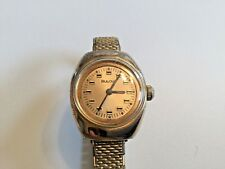 BULOVA WOMEN'S WATCH, mechanical gold toned vtg