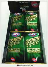 2013 Select AFL Prime Trading Cards Sealed Loose Packs Unit of 4--packs