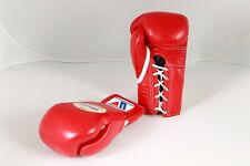Winning Boxing Gloves(Red) Lace Pro Type MS 200 8 oz Handcrafted in Japan