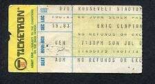 1974 Eric Clapton Concert Ticket Stub Jersey City 461 Ocean Boulevard Tour