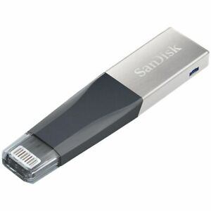 SanDisk 128GB iXpand USB 3.0 Lightning USB Connector for Apple iphone & ipad