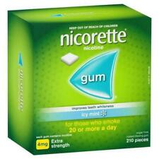 Nicorette Quit Smoking Extra Strength Icy Mint Chewing Gum - 4mg (210 Piece)