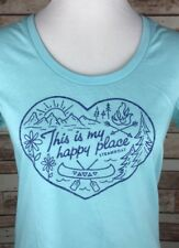 Steamboat Springs Colorado Women's Medium Blue Canoe Camp Short Sleeve T-Shirt