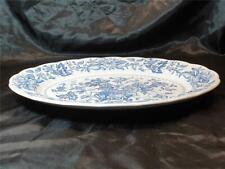 RIDGWAY Blue White serving platter / plate Pagoda  35 cm long