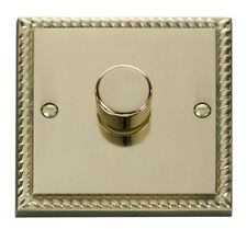 Scolmore Click Deco 1 Gang 2 Way 400va Rotary Dimmer Switch Georgian Cast Brass