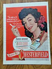 1948 Chesterfield Cigarette Ad Rise Stevens Metropolitan Opera's Carmen