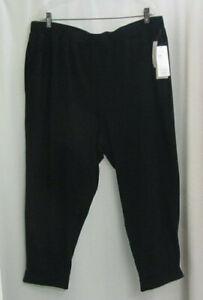 NWT $148 EILEEN FISHER Black Organic Cotton Stretch Jersey Slouchy Cuff Pant XL