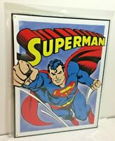 "Superman Vintage Retro DC Comics Metal Tin Sign 12.5"" x 16"" Made in the USA"