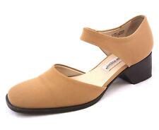 Etienne Aigner Womens Heels 8 Harrelson Beige Tan Fabric Pumps Ankle Strap Shoes