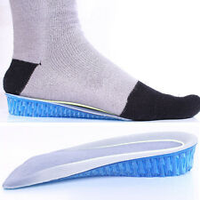 2PCS Silicone Gel Heel Lifts Height Increasing Lift Half Insoles In Sock Pads