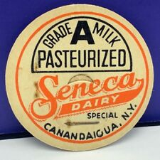 Dairy milk bottle cap farm vintage advertising Seneca Canandaigua New York NY 1