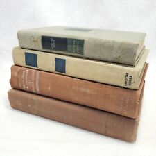 4 Hardcover Old Books Vintage Literature Instant Library Decorator Set Prop