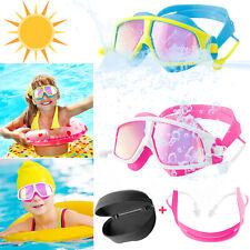 Anti-Fog UV Protection Swimming Goggles Pool Swim Glasses Earplug Kids Children