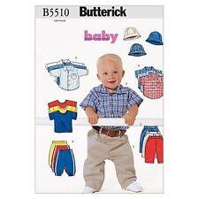 Butterick Sewing pattern B5510 Babies Infants' X-XL Shirts, T-Shirt, Pants, Hat