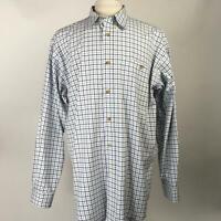 ORVIS Multi Plaid Button Down Shirt Long Sleeve 100% Cotton Mens Size LTL Large