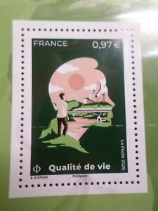 Quality' Life, the Earth The Men, France 2020, Stamp New, VF MNH Stamp