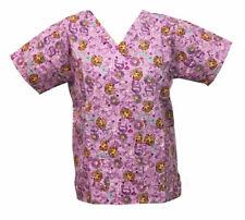 Nickelodeon Nursing Pediatric Scrubs Shirt Top Dora Light Pink XL