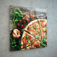 Impresión De Vidrio Arte Pared Cuadro Lienzo nuevos grandes Pizza Italia alimentos 45365936