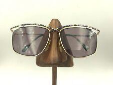 95e94d51253 Vintage Laura Biagiotti Green Purple Brow Gold Metal Square Sunglasses  Frames