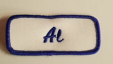 Embroidered Name Tag / Patch AL