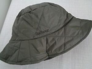 BNWT  Men's Barbour Olive Quilted Bucket Hat  size M