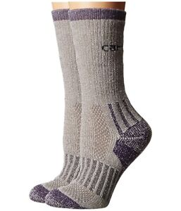 Carhartt 237914 Womens 2 Pack Crew Socks Heather Grey Shoe Size 5.5-11.5