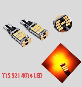 T10 T15 921 168 194 2825 12961 Amber 45 LED Bulb Reverse Backup Canbus B1 #1