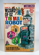 Vintage Remco Wizard Of Oz Tin Man Robot Big Plastic Battery Operated Toy Ex Box
