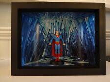 SUPERMAN CLASSIC MARVEL FIGURINE BY EAGLEMOSS IN BLACK BOX FRAMED