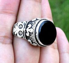 Kuchi Black Onyx Stone Ring Tribal Ethnic Bohemian Jewelry Tower Afghan Boho