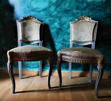 1920's ANTIQUE PAIR OF SIDE CHAIRS EXCEPTIONAL DESIGN FREE SHIPPING!