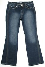 Apt 9 Womens Jeans Twisted Seam Boot Cut Stretch Denim Mid Rise Size 10 x 31
