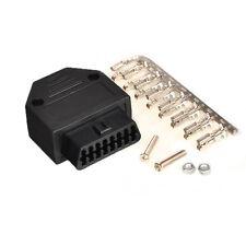Universal 16 Pin OBD2 OBDII OBD Female Diagnostic Tool Connector plug + Shell