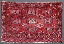 Glowing Red Field 1850 TEKKE Turkoman Salor-Gul Chuval. Tons of Cochineal Silk