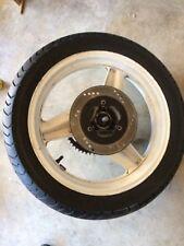 1989 HONDA CBR600F REAR BACK WHEEL RIM W/ ROTOR AND SPROCKET USED WITH TIRE