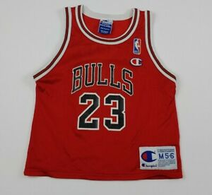 Vintage Champion Michael Jordan Chicago Bulls Jersey Size 5T Rare 90s EUC M 5-6