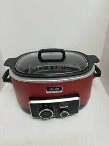 Ninja 4 In 1 Cooking System Red 6 Quart Model MC900QCN 15