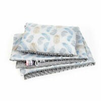 Baby Blanket Newborn Blanket Baby Pillow Blue Feathers High Quality Baby Nest